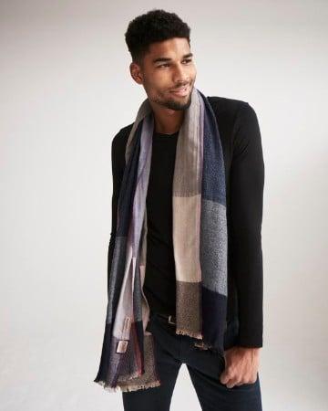 diseños de bufandas para hombre de cuadros