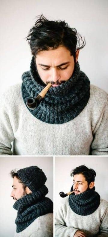 diseños de bufandas para hombre de lana