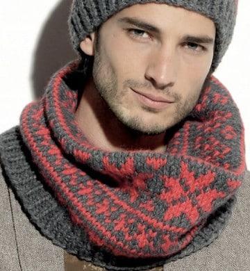 diseños de bufandas para hombre para el frio