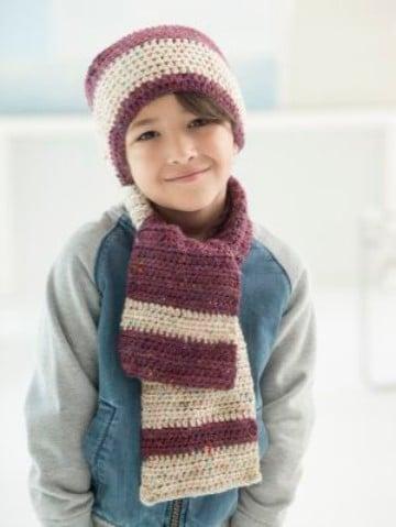 gorros y bufandas para niños con estilo