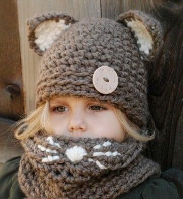 gorros y bufandas para niños creativos