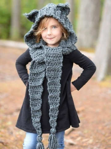 gorros y bufandas para niños tejidas