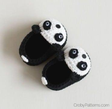 medias tejidas para bebe panda
