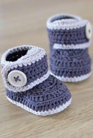 medias tejidas para bebe varon