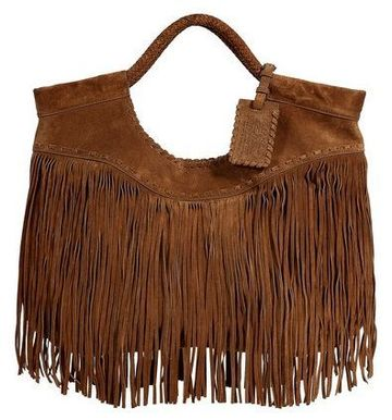 mochilas de cuero con flecos elegante