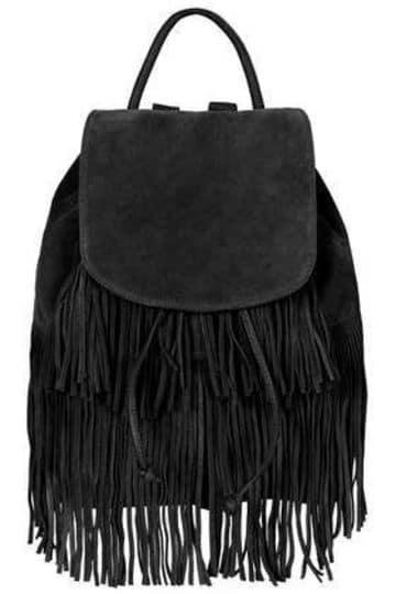 mochilas de cuero con flecos mujer