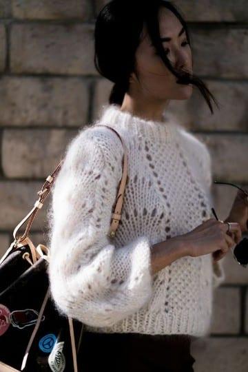 modelos de sueters tejidos blanco