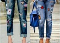 Los parches para pantalones rotos personalizados y a la moda