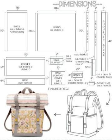 patrones para hacer una mochila campo