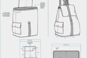Encuentra diversos moldes y patrones para hacer una mochila