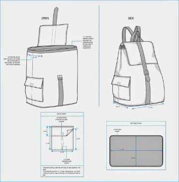 patrones para hacer una mochila sencillo