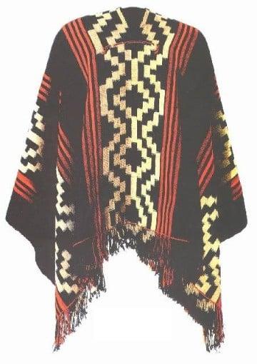 ponchos tejidos para hombres etnico