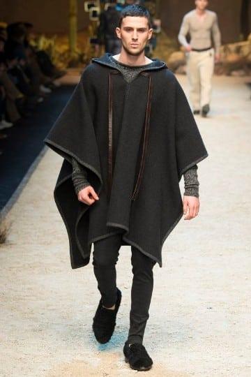 ponchos tejidos para hombres gris