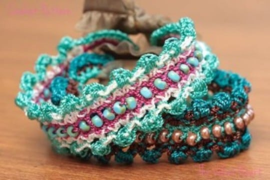 pulseras tejidas paso a paso en crochet