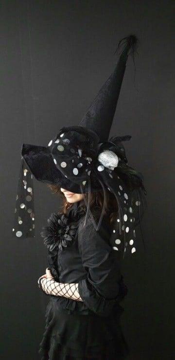 sombreros de brujas originales pepas blancas