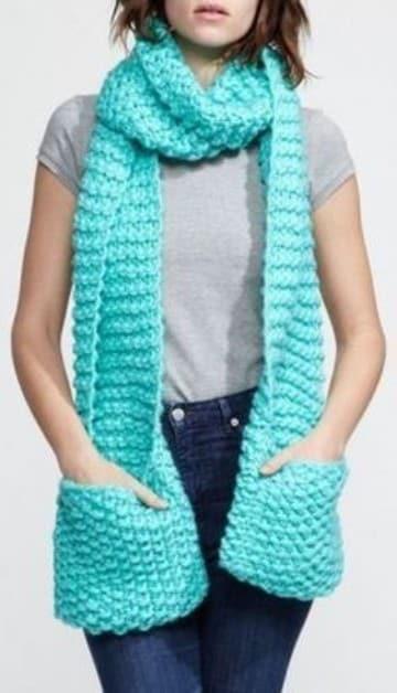 tipos de bufandas para mujeres con bolsillos