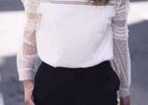 Unas blusas de encaje manga larga modernas y romanticas