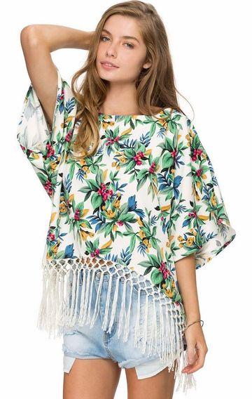 blusas estampadas para dama de flores