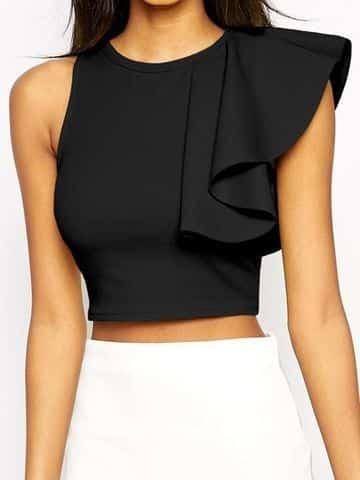 blusas negras elegantes juveniles