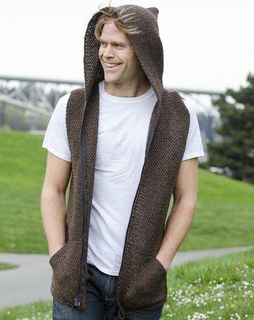 chalecos tejidos para hombre con capucha