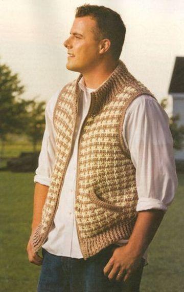 chalecos tejidos para hombre con cierre