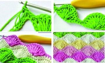 como hacer una colcha de ganchillo colores vivos