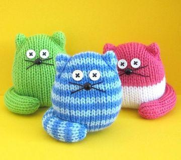 gatos tejidos a crochet faciles