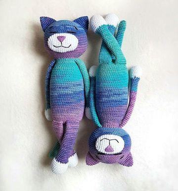 gatos tejidos a crochet gemelos