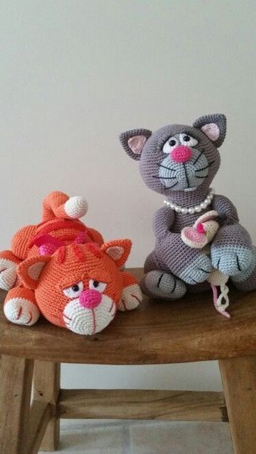 gatos tejidos a crochet