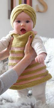 jerseys de bebe a dos agujas para niñas