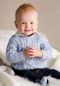 jerseys de bebe a dos agujas para niños