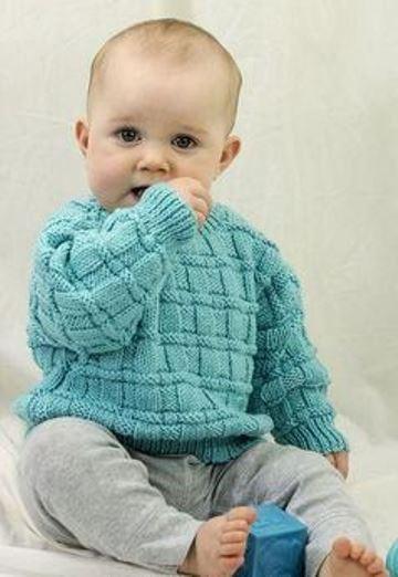jerseys de bebe a dos agujas sweter