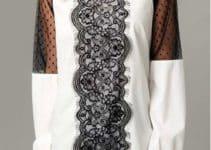 Varios modelos de blusas con encaje de diferentes tipos