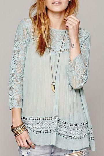 modelos de blusas con encaje
