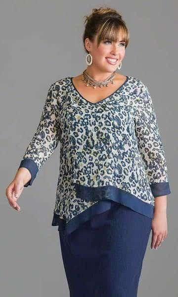 modelos de blusas para señoras gorditas