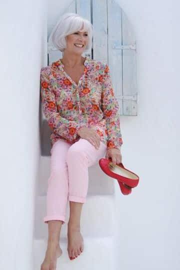 modelos de blusas para señoras mayores de 70