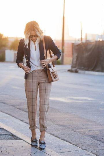 modelos de pantalones para dama a cuadros