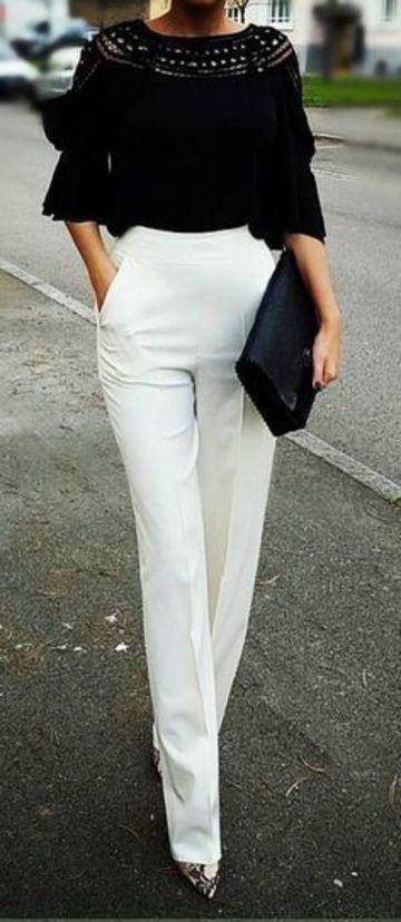 pantalones blancos para mujer de vestir