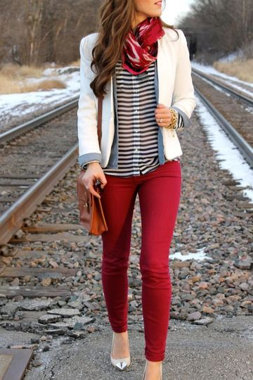 pantalones de colores para mujer de moda