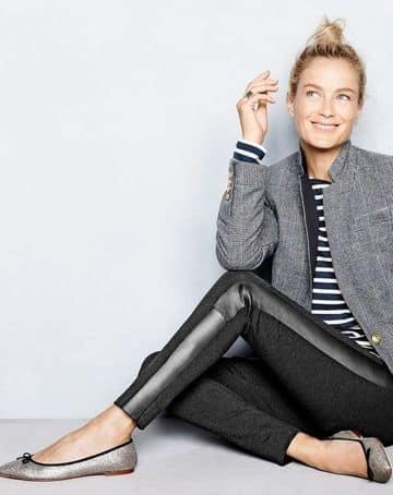 pantalones negros para mujer de cuero