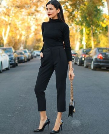 pantalones negros para mujer de vestir