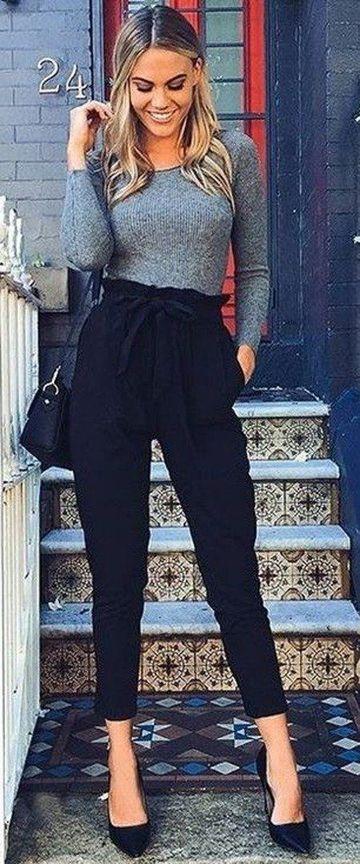 pantalones negros para mujer moderno