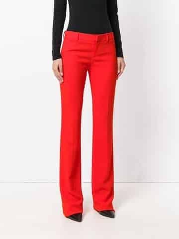 pantalones rectos para mujer elegante