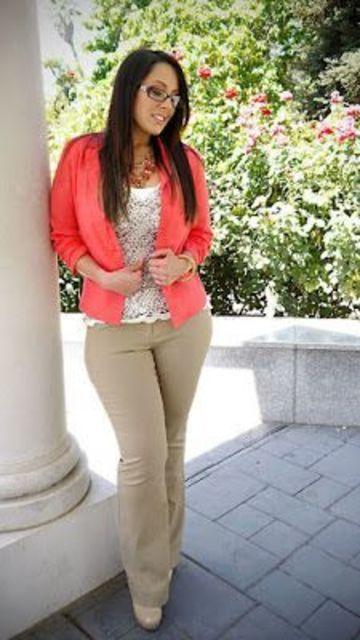 pantalones rectos para mujer para gorditas