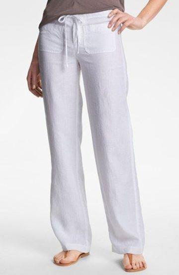 pantalones rectos para mujer para la playa