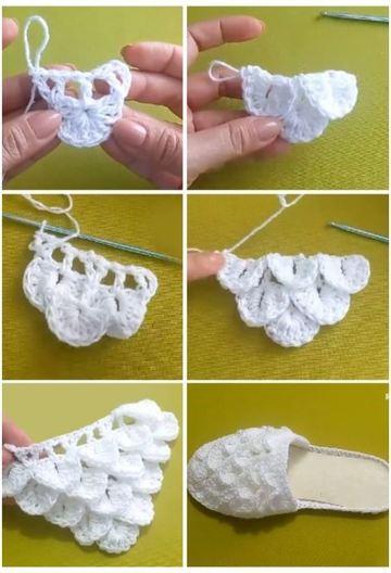 pantuflas tejidas a crochet paso a paso destalonadas