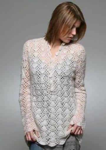 blusas tejidas de crochet casual