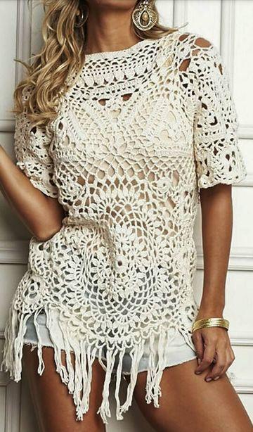blusas tejidas de crochet modernas