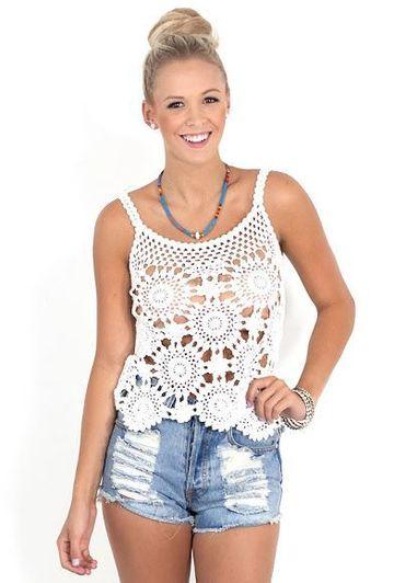 blusas tejidas de crochet para verano