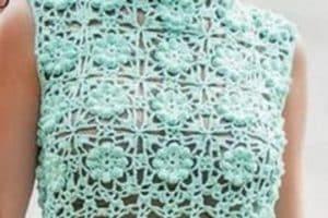 Mira los diseños de blusas tejidas de crochet para todas